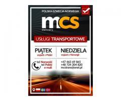 mcs delivery polska norwegia